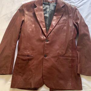 Hermès lambskin leather blazer